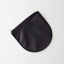 LEATHER ZIP POUCH
