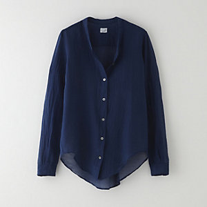 COLLARLESS BLOUSE
