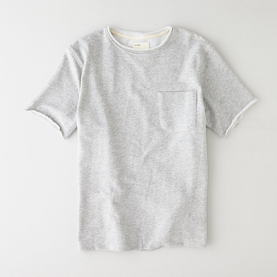CREW KNIT TERRY TEE