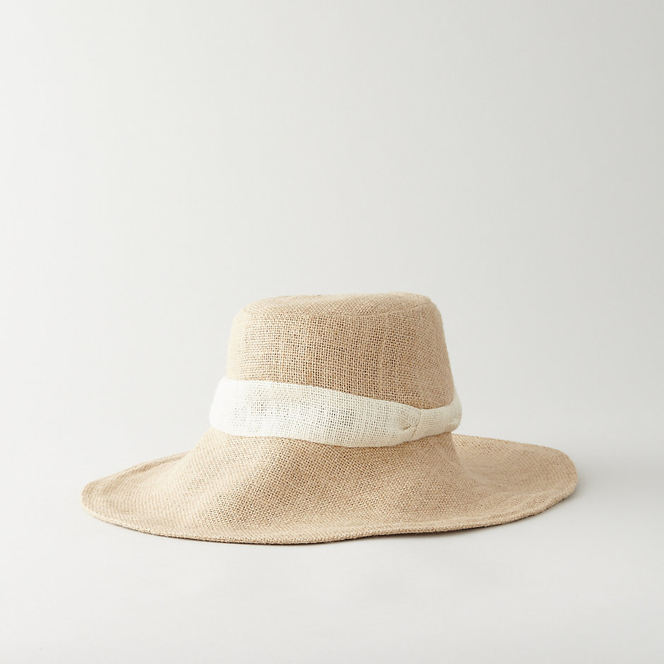WIDE BRIM JUTE SUN HAT