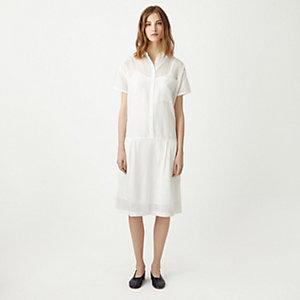 DROP WAIST SHIRT DRESS