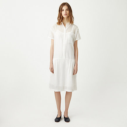 DROP WAIST SHIRT DRESS