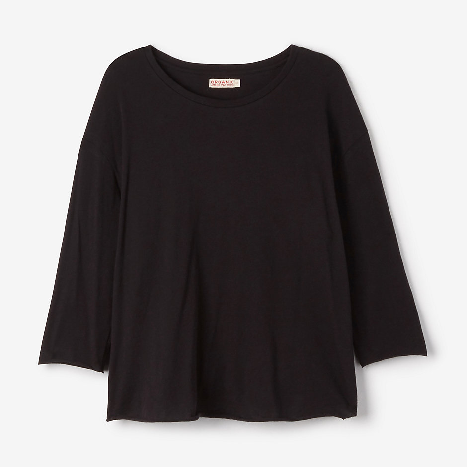 3/4 SLEEVE TEE WITH SHIRTTAIL