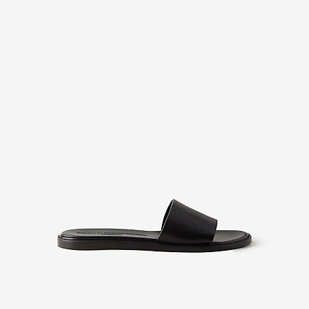 LEATHER SLIDE SANDAL