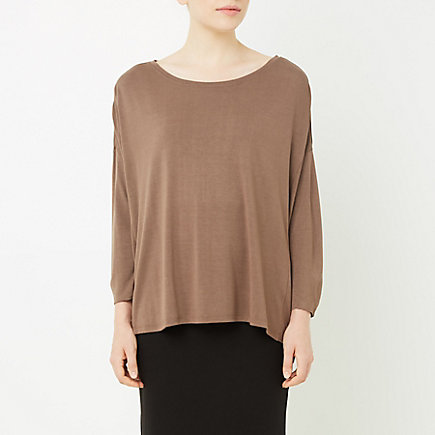 THREE-QUARTER-SLEEVE COCOON TOP
