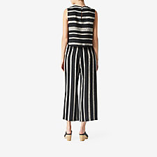 BLACK STRIPE LINEN