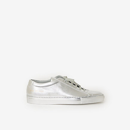 ORIGINAL ACHILLES LOW METALLIC LEATHER SNEAKER
