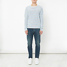 LONG SLEEVE MARINE STRIPE CREW TEE