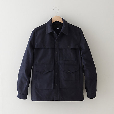 WAXED DENIM CRUISER JACKET