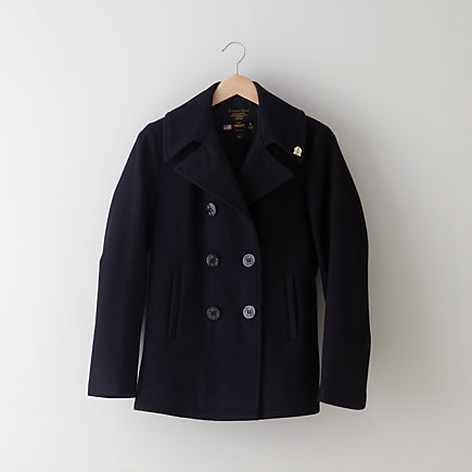 BASIC WOOL PEACOAT
