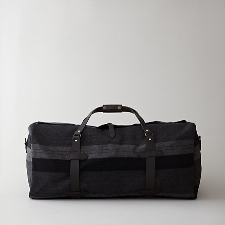 WOOL STRIPED LARGE DUFFLE