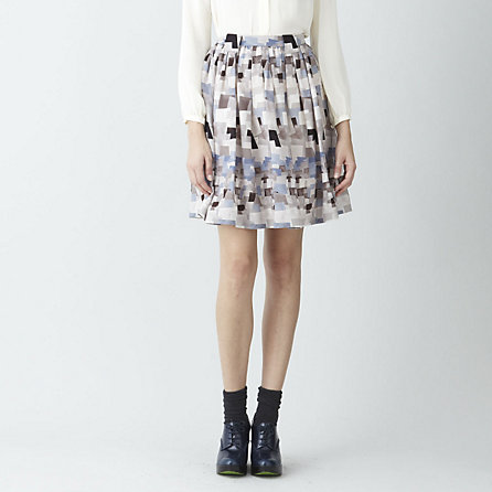 HORIZON PRINT SKIRT