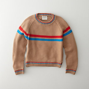 HANDKNIT STRIPED PULLOVER SWEATER