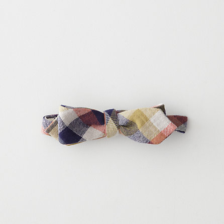 4-COLOR GINGHAM DOUBLE FACE FLANNEL BOWTIE