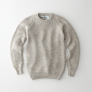 DONEGAL FISHERMAN RIB CREWNECK SWEATER