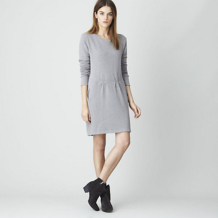 FLEECE SWEATSHIRT DRESS
