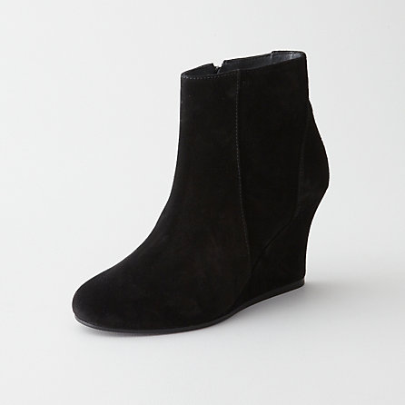 SUEDE ANKLE WEDGE