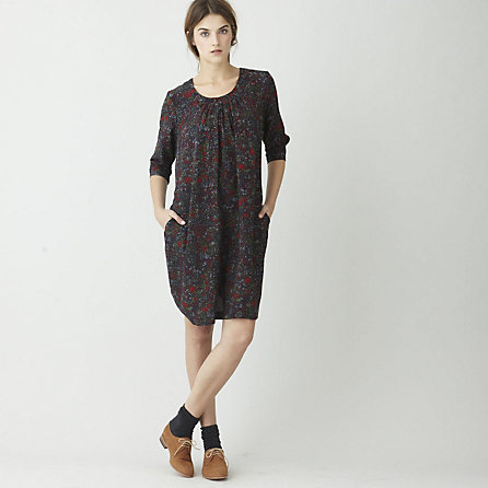 FITTED SMOCK DRESS