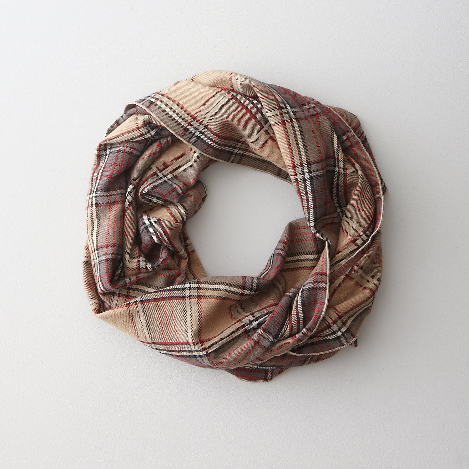 PLAID LONG SCARF