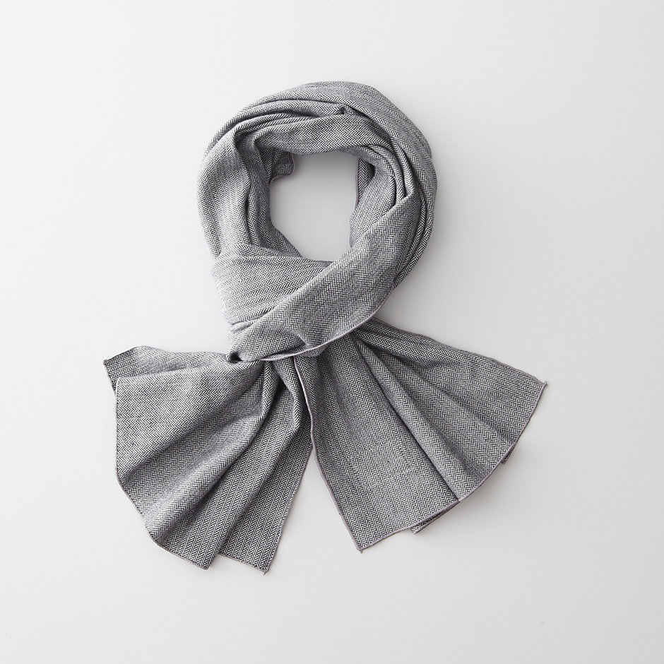 HERRINGBONE LONG SCARF
