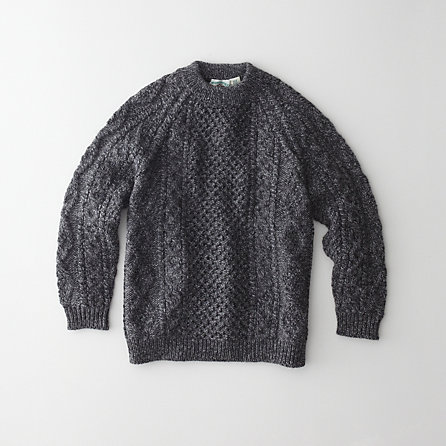 MERINO HANDKNIT ARAN TRADITIONAL SWEATER