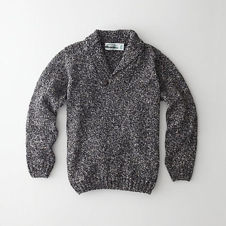 DONEGAL SHAWL COLLAR SWEATER