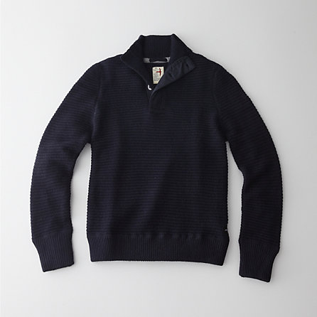 CROSS-GRAIN MOCK SWEATER