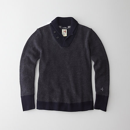 LAKE SUPERIOR SHAWL COLLAR SWEATER