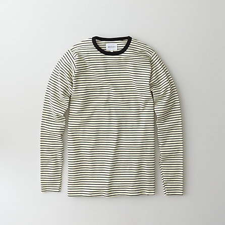 WILLUM CREW STRIPE LONG SLEEVE TEE
