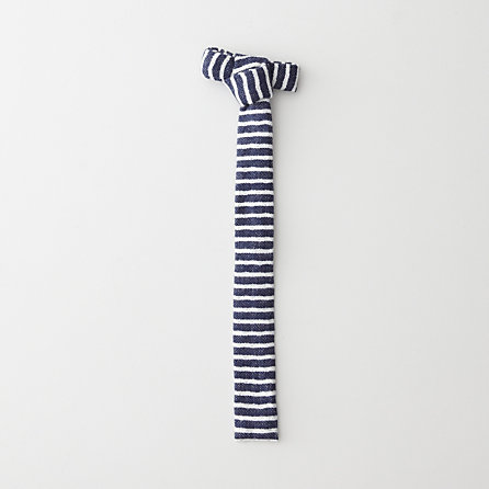 DIAMOND QUILTED DOUBLE FACED STRIPE TIE