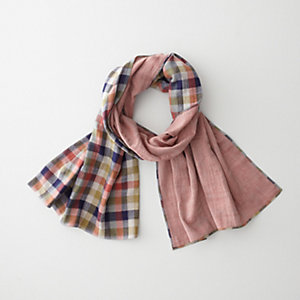 4 COLOR GINGHAM DOUBLE FACED FLANNEL SCARF