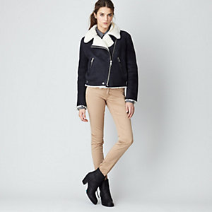 Rita Shearling Leather Jacket