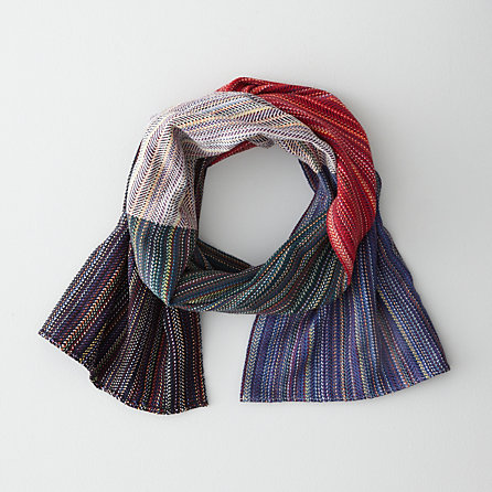 MODIFIED HERRINGBONE STRIPE SCARF - 5-COLOR CRAZY