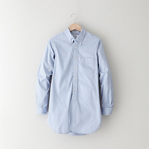 BLUE PINPOINT OXFORD TUNIC
