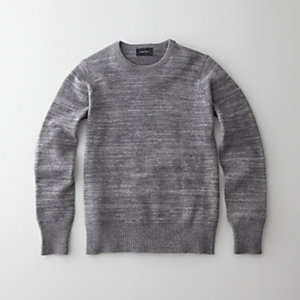 LONG SLEEVE MARLED CREWNECK SWEATER