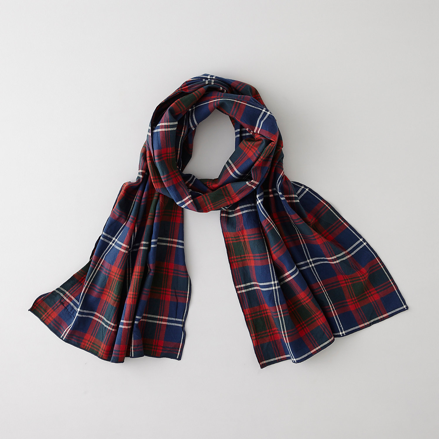 LONG PLAID SCARF