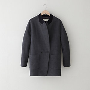 FABRIC PATCHED LAPEL JACKET