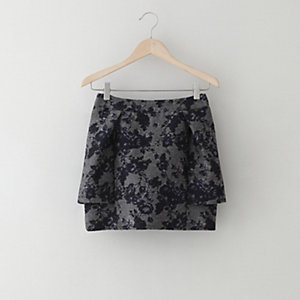 Rose Jacquard Tulip Skirt