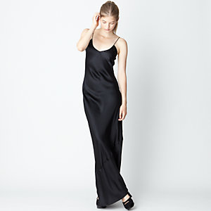 Silk Satin Maxi Dress