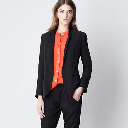 STRETCH SILK BLAZER