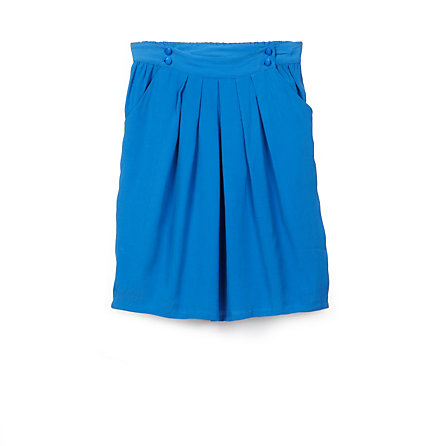 Pleated Silk Skirt