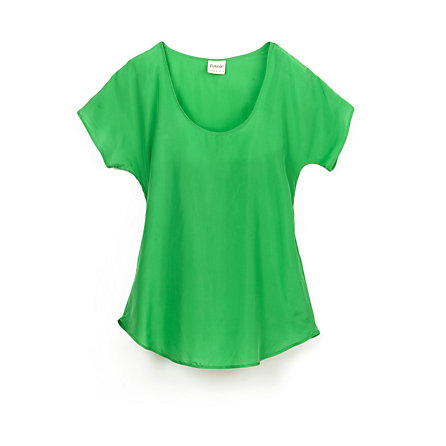 Silk Scoop Neck T-Shirt