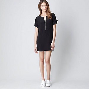 ZIP UP SHIRT DRESS