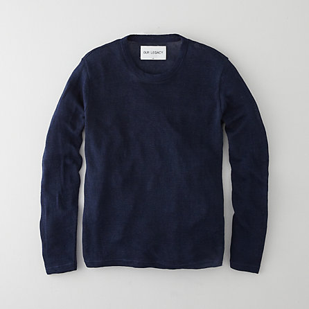 SINGLE ROUNDNECK INDIGO SWEATER