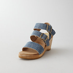 THREE STRAP WEDGE SANDAL