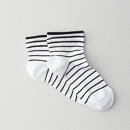 STRIPE COTTON ANKLE SOCK