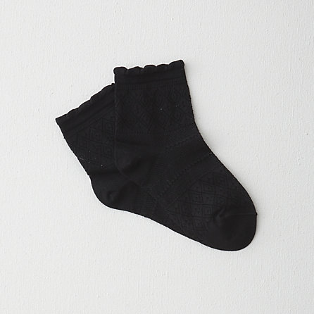 LACE PATTERN ANKLE SOCK