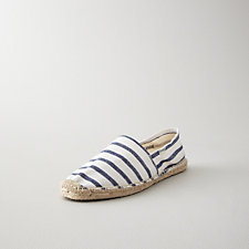 WOMENS CLASSIC STRIPE ESPADRILLE SLIP ON