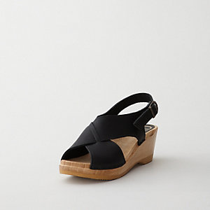 CROSS OVER MID WEDGE SANDAL