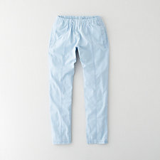 STONEWASHED CHAMBRAY TROUSERS